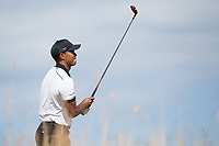 Golf - 2013 Open Championship at Muirfield - Thursday Round One<br /> Tiger Woods of USA watches his tee shot on the 6th