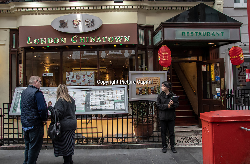 London Chinatown in London Chinatown Sweet Tooth Cafe and Restaurant at Newport Court and Garret Street on 15 June 2019, UK.