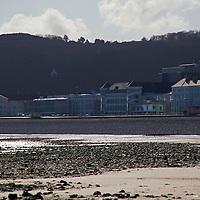 Europe, United Kingdom, Wales, Llandudno. Llandudno Beach and Little Orme.