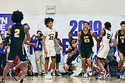 NORTH AUGUSTA, SC. July 10, 2019. Dylan Cardwell 2020 #23 of A.O.T. 17U excited at Nike Peach Jam in North Augusta, SC. <br /> NOTE TO USER: Mandatory Copyright Notice: Photo by Jon Lopez / Nike