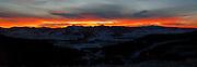 A beautiful, fiery Sunrise over the eastern edge of Jackson Hole