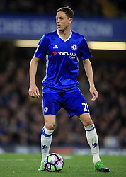 """Chelsea's Nemanja Matic during the Premier League match at Stamford Bridge, London. PRESS ASSOCIATION Photo. Picture date: Monday May 8, 2017. See PA story SOCCER Chelsea. Photo credit should read: Mike Egerton/PA Wire. RESTRICTIONS: EDITORIAL USE ONLY No use with unauthorised audio, video, data, fixture lists, club/league logos or """"live"""" services. Online in-match use limited to 75 images, no video emulation. No use in betting, games or single club/league/player publications."""