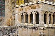 Abbey architecture, Mont Saint-Michel monastery, Normandy, France