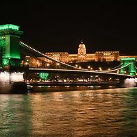 Saint Patrick's day light decoration Budapest landmarks 2017