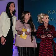 London, UK. 31th October, 2016. Laura Brown,Dame Barbara Windsor presents the Long Service awards to Kathy Baker, Westminster at Team London Awards at City Hall, London,UK. Photo by See Li