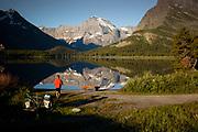 Morning on Swiftcurrent Lake, Glacier National Park