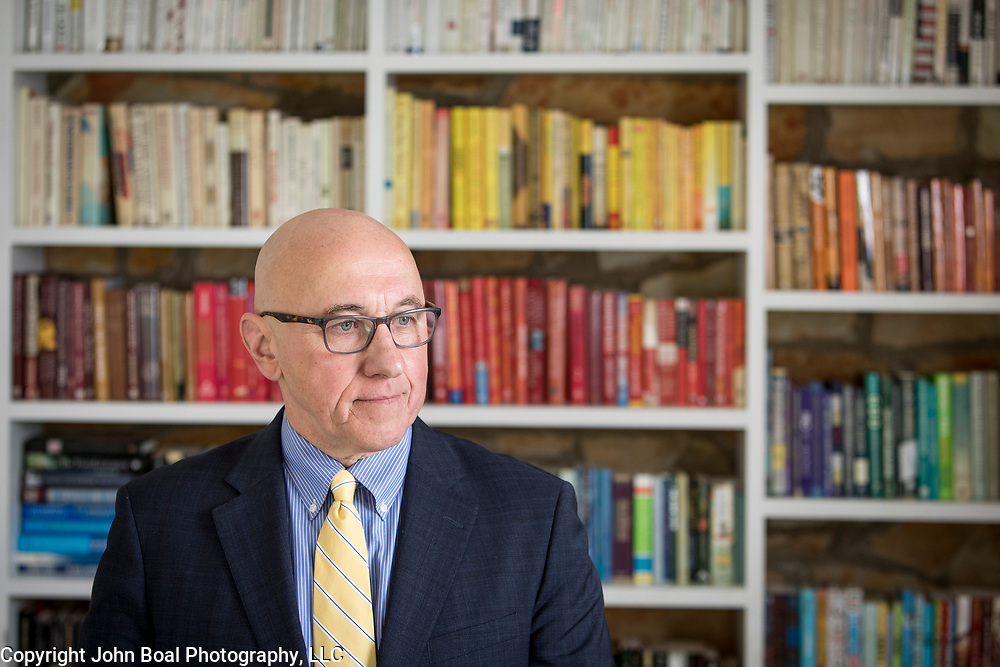 Thomas Andrews at his home in Fairfax, VA, on Saturday, March 3, 2021. Andrews is a former Congressional Representative from Maine and currently serves as a Robina Senior Human Rights Fellow at Yale University Law School and is the Special Rapporteur on the situation of human rights in Myanmar. John Boal photo/for the Portland Press-Herald