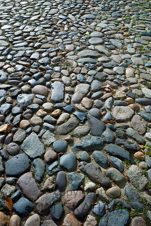 Cobble stone floor at St Martin de Re, Ile de Re, France