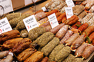 Sausage stall with French Salamis