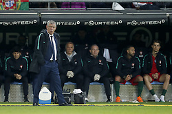 (L-R) coach Fernando Santos of Portugal, Cristiano Ronaldo of Portugal during the International friendly match match between Portugal and The Netherlands at Stade de Genève on March 26, 2018 in Geneva, Switzerland