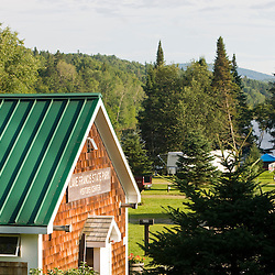 The visitor center and campground at Lake Francis State Park in Pittsburg, New Hampshire.