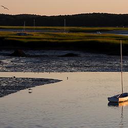 Annisquam Harbor in Gloucester Massachusetts USA