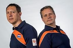10-05-2017 NED: Selectie Nederlands volleybal team mannen 2017, Arnhem<br /> Op Papendal werd de selectie gepresenteerd / Coach Gido Vermeulen, Assistent coach Claudio Gewehr