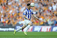 Fernando Forestieri of Sheffield Wednesday in action. Skybet football league Championship play off final match, Hull city v Sheffield Wednesday at Wembley Stadium in London on Saturday 28th May 2016.<br /> pic by John Patrick Fletcher, Andrew Orchard sports photography.