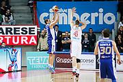 DESCRIZIONE : Varese Lega A 2013-14 Cimberio Varese Acqua Vitasnella Cantu<br /> GIOCATORE : Roberto Rullo<br /> CATEGORIA : Tiro Three Points<br /> SQUADRA : Acqua Vitasnella Cantu<br /> EVENTO : Campionato Lega A 2013-2014<br /> GARA : Cimberio Varese Acqua Vitasnella Cantu<br /> DATA : 15/12/2013<br /> SPORT : Pallacanestro <br /> AUTORE : Agenzia Ciamillo-Castoria/G.Cottini<br /> Galleria : Lega Basket A 2013-2014  <br /> Fotonotizia : Varese Lega A 2013-14 Cimberio Varese Acqua Vitasnella Cantu<br /> Predefinita :