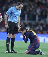 01.12.2012. Barcwelona, Spain. La Liga. Picture show Jordi Alba in action during match between FC Barcelona against Athletic at Camp Nou