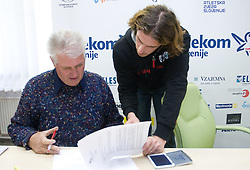 Leopold Rovan and Jurij Rovan when Slovenian athletes and their coaches sign contracts with Athletic federation of Slovenia for year 2009,  in AZS, Ljubljana, Slovenia, on March 2, 2009. (Photo by Vid Ponikvar / Sportida)