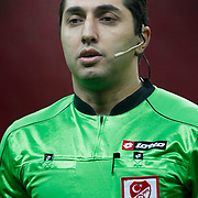 Referee's Mustafa Ilker Coskun during their Turkey Cup matchday 3 soccer match Galatasaray between AdanaDemirspor at the Turk Telekom Arena at Aslantepe in Istanbul Turkey on Tuesday 10 January 2012. Photo by TURKPIX