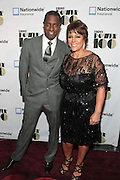November 2, 2012- New York, NY: (L-R) Visual Artist Sanford Biggers(Honoree) and Linda Johnson Rice, Chair, Johnson Publishing Company at the Ebony Power 100 Gala Presented by Nationwide held at Jazz at Lincoln Center on November 2, 2012 in New York City. The EBONY Power 100 Gala Presented by Nationwide salutes the country's most influential African Americans.(Terrence Jennings)