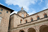 urbino Italian city, historical palace and church