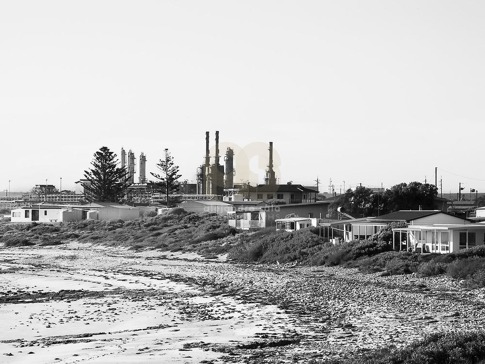 Port Lowly , Australia, (SA), 2017:  Hoses at beach in Port Lowly in the Upper Spencer Gulf. Behind the Refinery at Port Bonython. Signed and editioned prints available at 50x40cm. Get and touch, for commercial uses or other sizes.. Photographs by Alejandro Sala   Visit Shop Images to purchase and download a digital file and explore other Alejandro-Sala images…