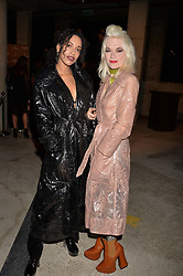 Jetta and Pam Hogg at the Veuve Clicquot Widow Series launch party curated by Carine Restoin-Roitfeld and CR Studio held at Islington Green, London England. 19 October 2017.
