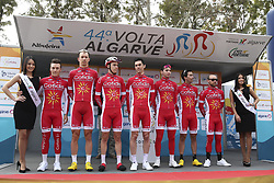 February 14, 2018 - Lagos, Portugal - Cofidis, Solutions Credit before the 1st stage of the cycling Tour of Algarve between Albufeira and Lagos, on February 14, 2018. (Credit Image: © Str/NurPhoto via ZUMA Press)