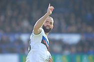 GOAL Aaron Wilbraham celebrates 2-1 during the EFL Sky Bet League 1 match between Portsmouth and Rochdale at Fratton Park, Portsmouth, England on 13 April 2019.