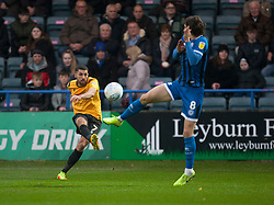 Liam Sercombe of Bristol Rovers (L) crosses the ball - Mandatory by-line: Jack Phillips/JMP - 02/11/2019 - FOOTBALL - Crown Oil Arena - Rochdale, England - Rochdale v Bristol Rovers - English Football League One