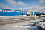 60595-01017 The Northern store on Kelsey Blvd in winter, Churchill MB Canada
