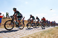 The Bora team riders lead on the cobblestones section during the 105th Tour de France 2018, Stage 9, Arras Citadelle - Roubaix (156,5km) on July 15th, 2018 - Photo George Deswijzen / Proshots / ProSportsImages / DPPI