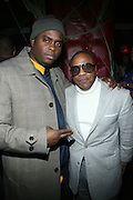 """l to r: Fahyim Joshua and Kedar Massenburg at The Russell Simmons and Spike Lee  co-hosted """"I AM C.H.A.N.G.E!"""" Get out the Vote Party presented by The Source Magazine and The HipHop Summit Action Network held at Home on October 30, 2008 in New York City"""