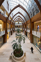 Interior of 360 shopping Mall in Kuwait City, Kuwait.