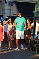 "Magic Johnson and wife Earlitha ""Cookie"" - 7 Aug 2018"