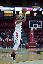 01 November 2017:  during a Exhibition College Women's Basketball game between Illinois State University Redbirds the Red Devils of Eureka College at Redbird Arena in Normal Illinois.