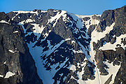 MOunatin peaks and snow<br /> Stewart Cassiar Highway<br /> British Columbia<br /> Canada