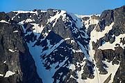 MOunatin peaks and snow<br /> Stewart Cassiar Highway<br /> British Columbia<br /> Canada