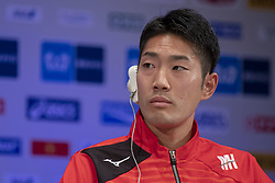 March 1, 2019 - Tokyo, Tokyo, Japan - Japan's Ryo Kiname speaks during a press conference ahead of the Tokyo Marathon in Tokyo on March 1, 2019. The annual Tokyo Marathon will be held on March 3  (Credit Image: © Alessandro Di Ciommo/NurPhoto via ZUMA Press)