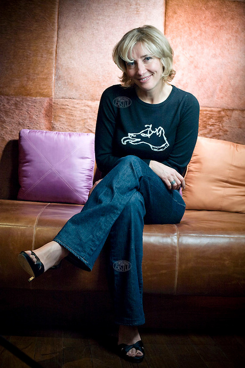 Photo ©2007 Tom Wagner,  ©Tom Wagner 2007, all moral rights asserted..Portrait of Emma Thompson, Oscar winning English Star of film, theatre and TV, from comedy to high drama, and successful screen play writer. Films include Harry Potter,  Brideshead Revisited (2008), Sense and Sensibility (star and screen play writer) Howard's End..Photographed here in her dressing room after a live appearance as a guest on the show  'Friday Night with Johnathan Ross',  a hugely popular British chat TV show. .No usage allowed without written agreement with Tom Wagner, copyright holder and creator..No usage allowed without written agreement with Tom Wagner, copyright holder and creator.
