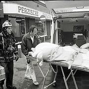 NLD/Bussum/19890514 - Brand Kapelstraat Bussum, een dode