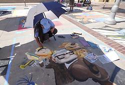 June 18, 2017 - Los Angeles, California, U.S - Artists work on their pieces during the Pasadena Chalk Festival on Paseo Colorado in Pasadena, California, June 18, 2017. (Credit Image: © Ringo Chiu via ZUMA Wire)