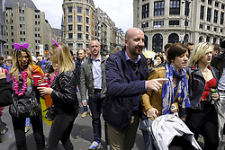 May 20, 2017 - Brussels, BELGIUM - Belgian Prime Minister Charles Michel (3R) pictured during the 22nd edition of the 'Belgian Pride', a manifestation of lesbian, gay, bisexual and transgender oriented people, Saturday 20 May 2017 in Brussels. BELGA PHOTO NICOLAS MAETERLINCK (Credit Image: © Nicolas Maeterlinck/Belga via ZUMA Press)