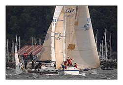 Largs Regatta Week - August 2012.Round the Island Race..931C, Mallie,  MacFadyen/McClelland and GBR 4770R , Lady Rhona,  Ian Cameron .