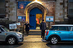 Early voters in Midlothian, Penicuik, 12 December 2019