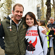 Dan Richardson attend the 5th Global March for Elephants and Rhinos march against extinction and trophy hunting murdering and killing animals for blood spots and ivory trade on 13 April 2019, London, UK.