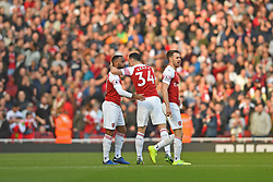 February 24, 2019 - London, England, United Kingdom - Arsenal forward Alexandre Lacazette celebrates his goal during the Premier League match between Arsenal and Southampton at the Emirates Stadium, London on Sunday 24th February 2019. (Credit Image: © Mi News/NurPhoto via ZUMA Press)