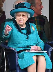 The Queen attends The Braemar Royal Highland Gathering at The Princess Royal and Duke of Fife Memorial Park, Braemar, Aberdeenshire, UK, on the 1st September 2018. 01 Sep 2018 Pictured: The Queen attends The Braemar Royal Highland Gathering at The Princess Royal and Duke of Fife Memorial Park, Braemar, Aberdeenshire, UK, on the 1st September 2018. Photo credit: James Whatling / MEGA TheMegaAgency.com +1 888 505 6342