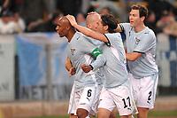 """Ousmane DAbo Lazio celebrates scoring<br /> Esultanza di Dabo dopo il gol<br /> Roma 23/10/2008 Stadio """"Olimpico"""" <br /> Campionato Italiano Serie A 2008/2009<br /> Lazio Genoa (1-1)<br /> Foto Andrea Staccioli Insidefoto"""