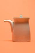 a little porcelain pot side view abstraction