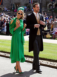 Will and Caroline Greenwood arrive at St George's Chapel at Windsor Castle for the wedding of Meghan Markle and Prince Harry.